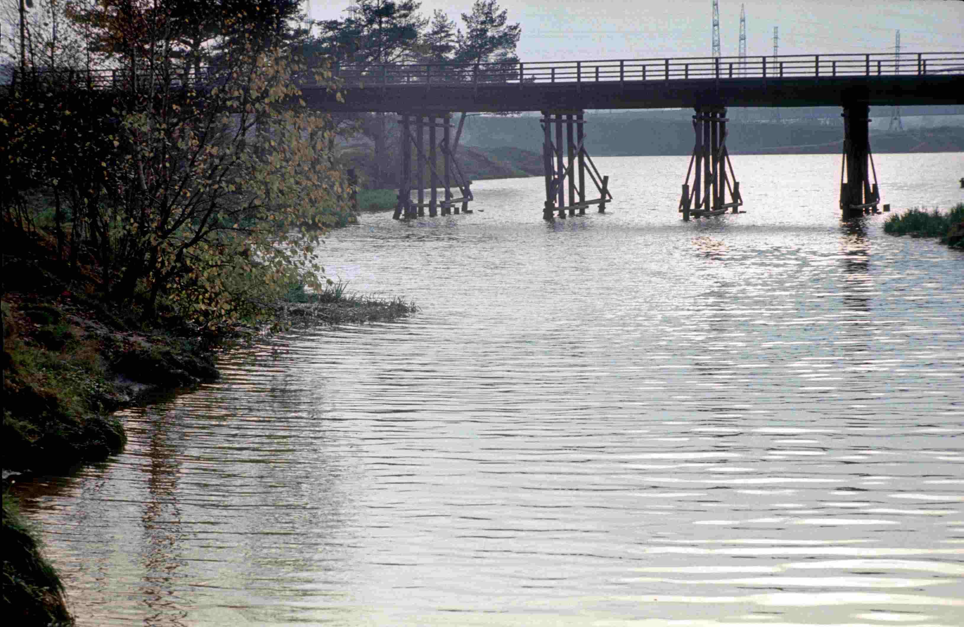 Деревянный мост на Левом берегу