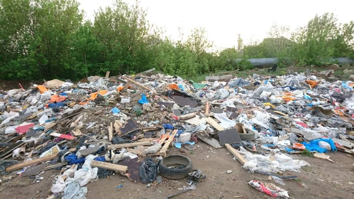 свалка мусора в Ховрино