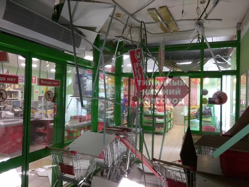 разрушения в магазине